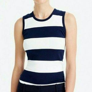 J crew cotton short sleeve top size xl